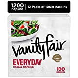 Vanity Fair Everyday White Paper Napkins, 1200 Count