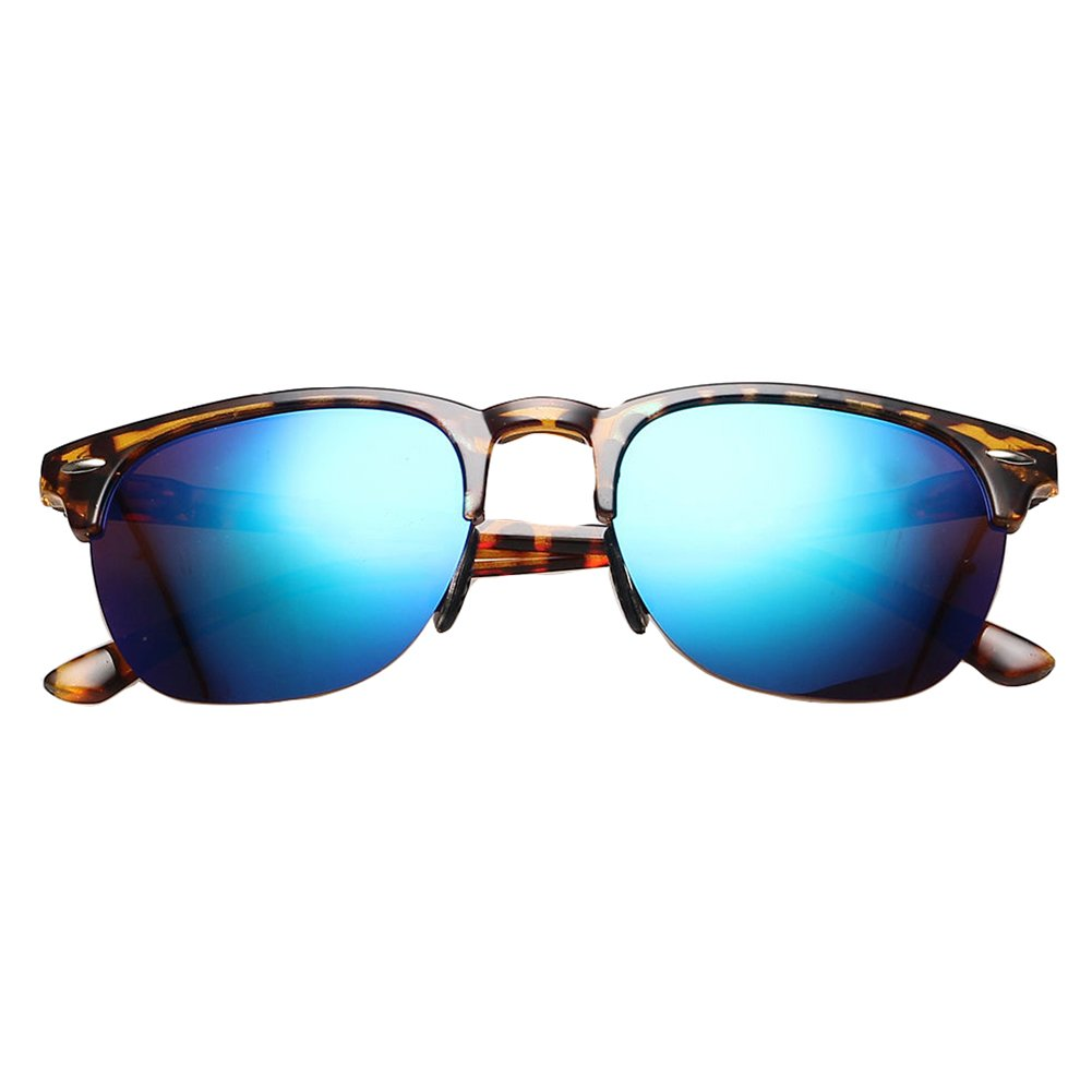 Sunglasses bifocal Tortoise Frame Blue Mirror 2015 New Retro Vintage Clubmaster Wayfarer Mirrored Polarized Sunglasses Eyewear sunglasses over prescription glasses sunglasses clubmaster by Glasses by me