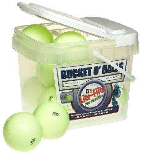 Jugs Lite-Flite Softballs con Cubeta