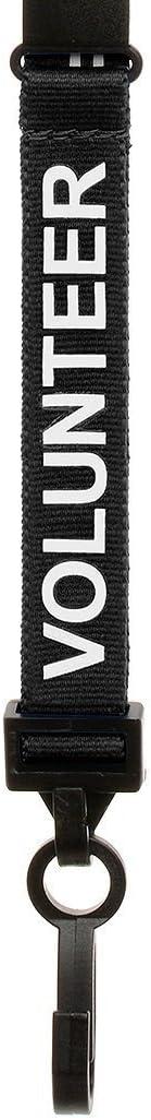 CKB Ltd 100x Black Volunteer LANYARDS Breakaway Safety Lanyard Neck Strap Swivel Metal Clip for ID Card Holder Pull Quick Release Design