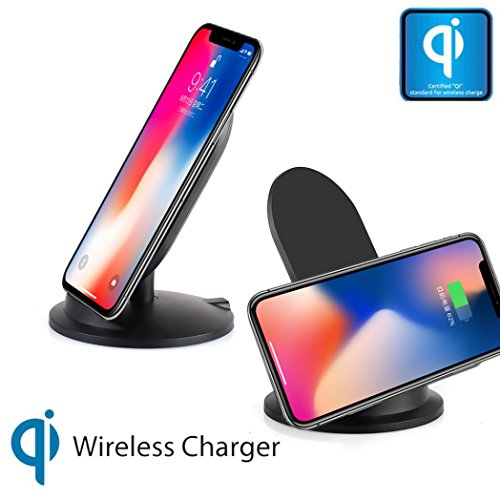 Mchoice For Iphone 8/8 Plus/X, Concision Portable 10W Qi Safe Wireless Charger Charging Stand for Iphone 8/8 Plus/X