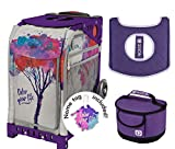 Zuca Sport Bag - Color Your Life with Gift Lunchbox and Seat Cover (Purple Frame)