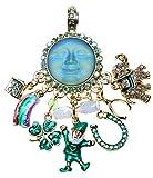 Kirks Folly Lucky Charms Seaview Moon Magnetic Enhancer goldtone Leprechaun St Patrick's Day