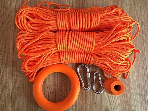 登山ロープ、釣りロープ、屋外火災脱出レスキューパラシュート静的屋内ロープ、ヘビーデューティ安全耐久ロープ、直径12mm,Orange,10m