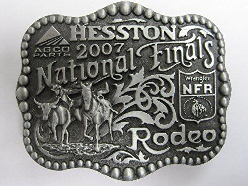 Hesston 2007 National Finals Rodeo NFR Youth (small) Belt Buckle (Montana Silversmiths Belt)