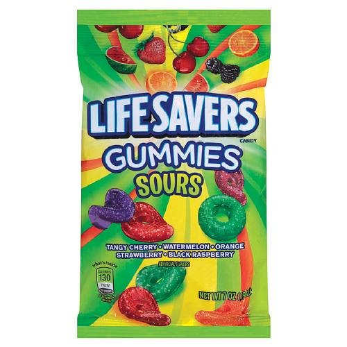 LifeSavers Gummies Candy Sours, 5 Flavors 7 oz (Pack of 3) -