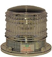 S8LFM 2NM IP67 Solar Flashing LED Magnetic Marine Dock Barge Safety Beacon Light 360 Degree