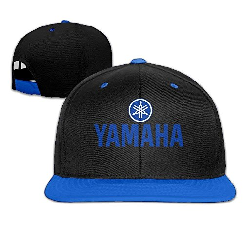 GlyndaHoa Yamaha Logo Snapback Adjustable Hip Hop Baseball Cap/Hat for Unisex Royal Blue