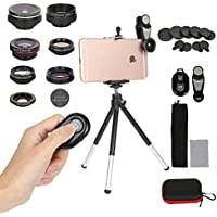Cell Phone Camera Lens Kit,7 In 1 Clip On Iphone Lens...