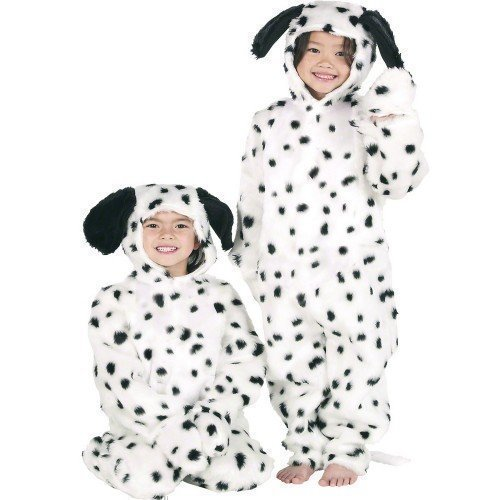 Boys or Girls Kids Deluxe Dalmatian Dog Onesie Animal Fancy Dress Costume Outfit (6-8 years)]()