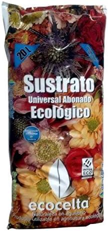 Ecocelta Sustrato Universal abonado 20 l ZA36 Negro