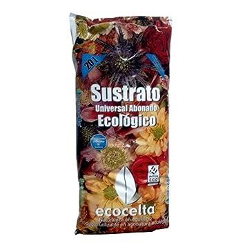 Ecocelta Sustrato Universal abonado 20 l, Negro, ZA36