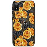 MINITURTLE Compatible with Samsung Galaxy A10e, Samsung Galaxy A20e Slim Hard Embossed Shell Grip Hybrid Case Protection - Bumble Bee Flowers