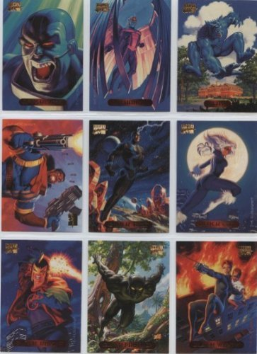 400 Card Gift Box with Assorted Mix Marvel Trading Cards From the 1994 Fleer Marvel Masterpieces, Universe and Spiderman sets + more PLUS a Bonus Limited Silver Insert Card & 3 Flair Marvel cards ()