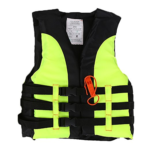 VGEBY Life Vest Buoyancy Swimming Jacket Swimming Boating Drifting Aid Jacket with Survival Whistle for Child (Color : Green, Size : for 2-4 Years Old) (Best Life Jacket For 3 Year Old)
