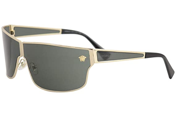 6a7632f360 Amazon.com  Versace Mens Sunglasses Gold Green Metal - Non-Polarized ...
