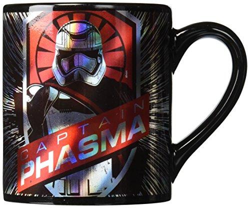 Silver Buffalo SE0232 Star Wars Episode 7 Captain Phasma Burst Ceramic Mug, 14-Ounces -