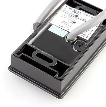SODIAL R RFID Reader Abridor de puerta de lectura dispositivo lector externo para control de acceso Negro NUEVO