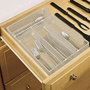 Amazon.com: Rubbermaid Wire Mesh Drawer Organizer, Cutlery Tray ...