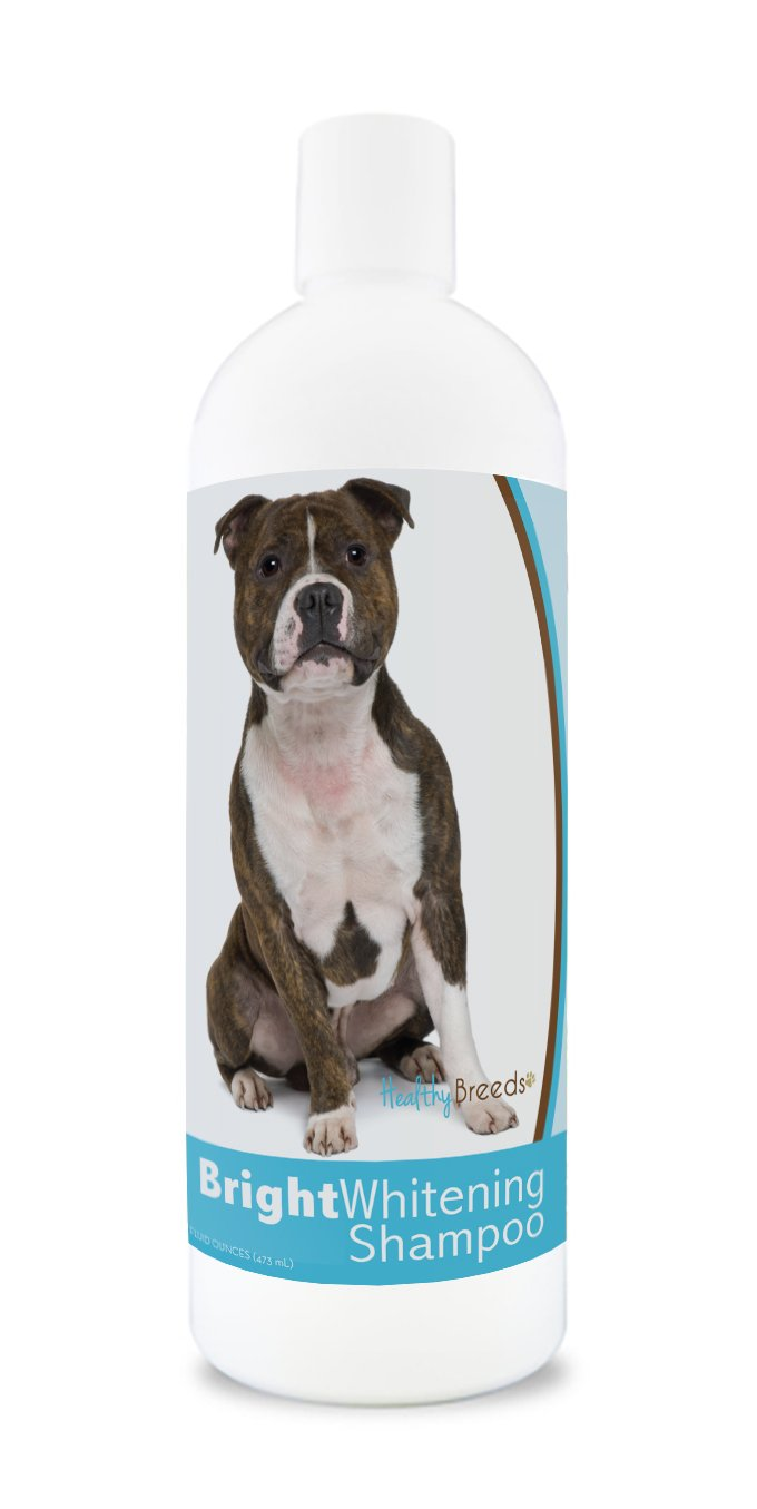 Healthy Breeds Dog Shampoo for White Dogs for Staffordshire Bull Terrier For White, Lighter Fur OVER 150 BREEDS 12 oz With Oatmeal For Dry, Itchy, Sensitive, Skin Moisturizes, Nourishes Coat