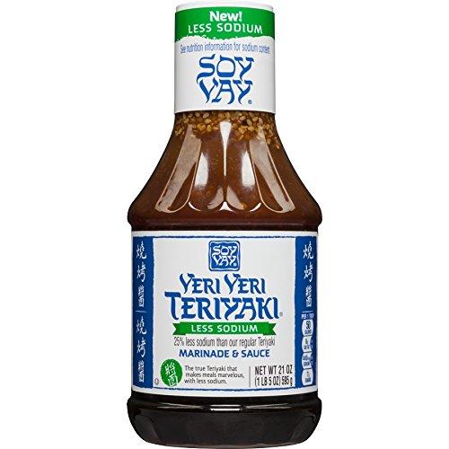 (Soy Vay Less Sodium Veri Veri Teriyaki Marinade & Sauce 21 oz (Pack of 2))