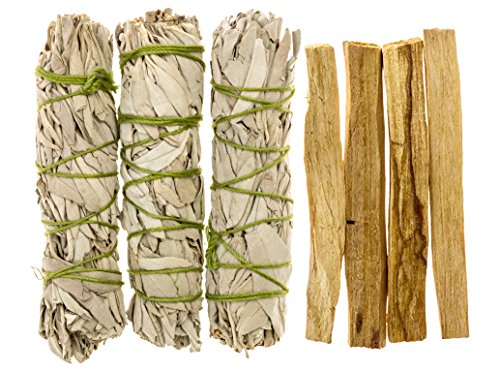 Alternative Imagination California White Sage and Palo Santo Refill Pack. Comes with 3 Sage and 4 Palo Santo by Alternative Imagination