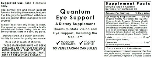 Quantum Eye Support, 240 caps / 4 Bottles - Premier Research Ocuven Vision and Eye Support, Including the Macula. Contains Lutein and Zeaxanthin. by Quantum Nutrition Labs (Image #1)