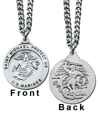 st-michael-us-marines-service-pendant-necklace-prayer-card