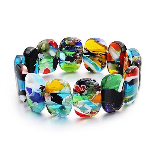 Jardme Magical Murano Glass Bracelet for Women Murano Inspiration Mixed Color