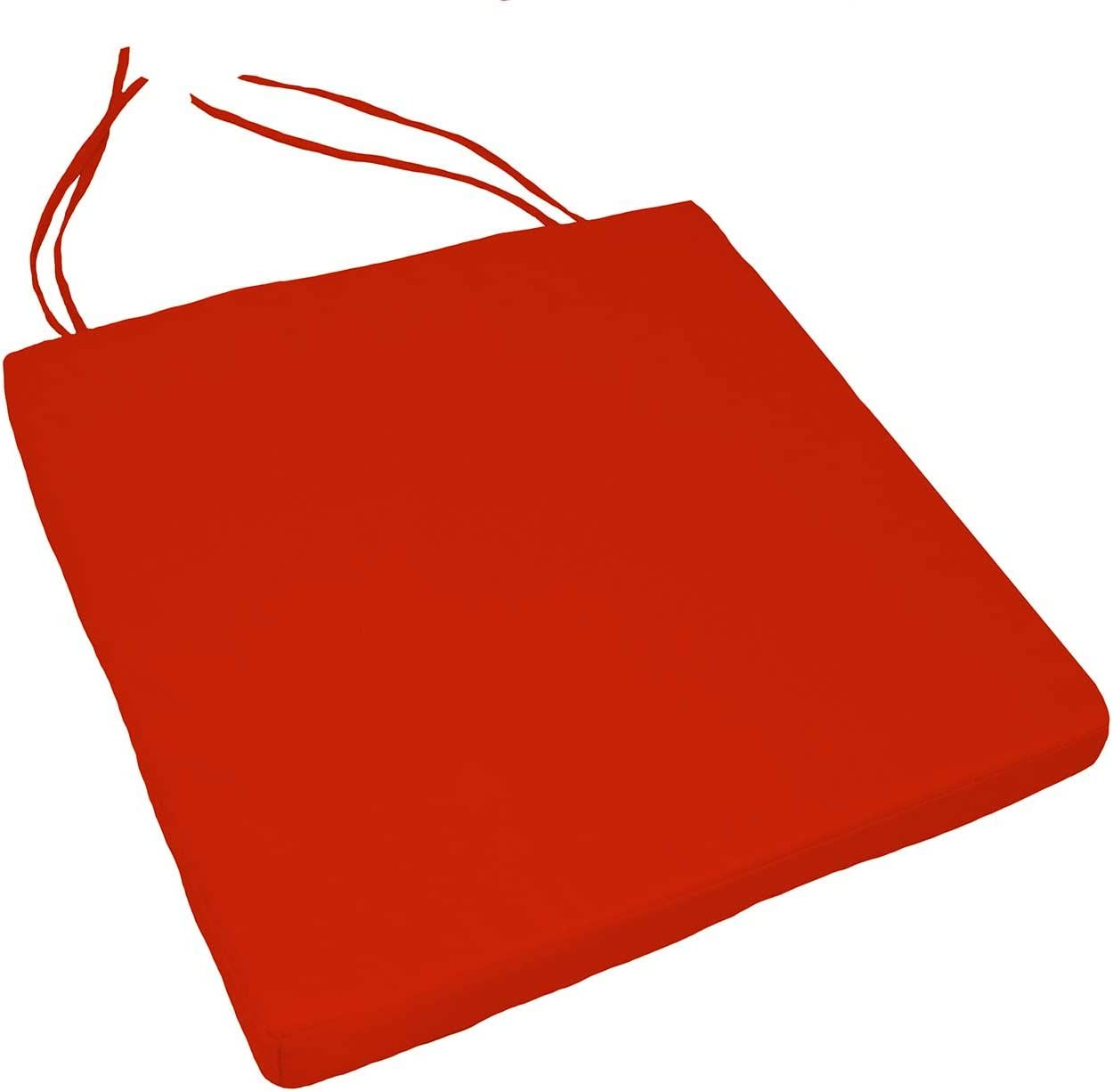 GEZICHTA carr/é 40/cm x 40/cm solide Uni Galette de chaise carr/ée de jardin de cuisine salle /à manger Chaise Coussin 40cm by 40cm Red