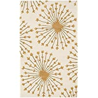 Safavieh Bella Collection BEL123A Handmade Beige and Gold Premium Wool Area Rug (4 x 6)