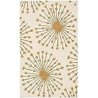 Safavieh Bella Collection BEL123A Handmade Beige and Gold Premium Wool Area Rug (4 x 6)