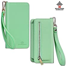 Smart Phone Wristlet SHANSHUI Wallet Clutch Purse Case for Apple iPhone 6S / 6 Plus Samsung Galaxy S6 / S6 Edge / S6 Edge+ / Note 5 / Note 4 Google Nexus HTC One M9 / M8 Sony Xperia LG (L-Green)