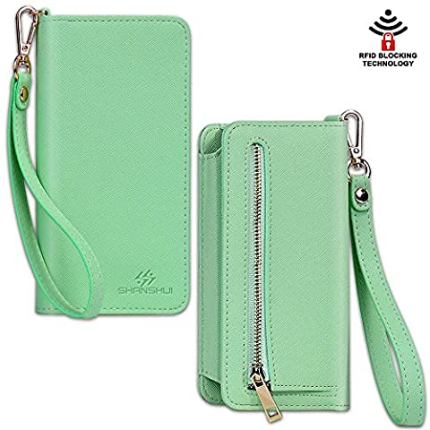 Smart Phone Wristlet,SHANSHUI Wallet Clutch Purse Case for Apple iPhone 6S / 6 Plus, Samsung Galaxy S6 / S6 Edge / S6 Edge+ / Note 5 / Note 4 , Google Nexus, HTC One M9 / M8, Sony Xperia, LG (M8 Cell Phone Case Wallet)