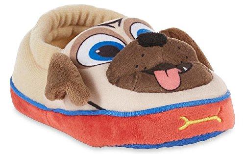 Disney Boy's Puppy Dog Pals Slippers (11-12 M US Little Kid, Gray/Tan)]()