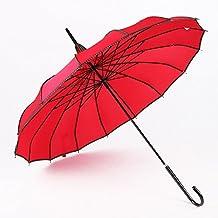 Pagoda Vintage Parasol Umbrella Bridal Wedding Party Sun UV Rain Automatic J-Shape Umbrella 16pcs Ribs
