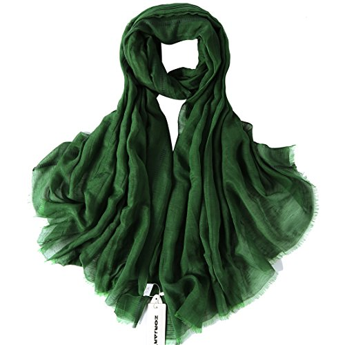 Scarves Shawls Fashion (ZORJAR Women Fashion Linen Silk Scarf Shawl Wrap Soft Long Large 39