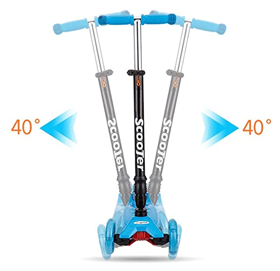 Amazon.com : MICHEALWU Scooter for Kids 3 Wheel Height ...