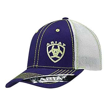 ARIAT Women's Offset Logo Mesh Snap Cap, Purple, One Size