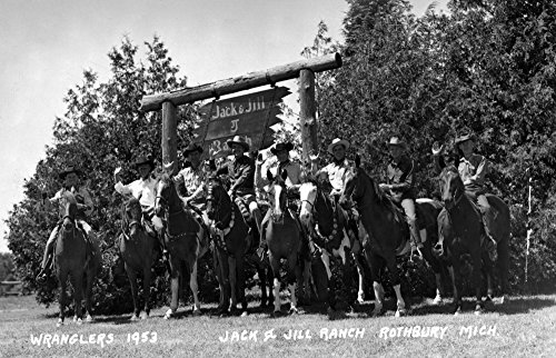 (Rothbury, Michigan - Wranglers at the Jack and Jill Ranch (24x36 SIGNED Print Master Giclee Print w/Certificate of Authenticity - Wall Decor Travel Poster))