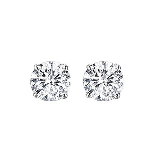 Igi Certified 14kw 0.35 Ctw I Color Si2 Diamonds Studs Jewelry & Watches Other Wedding Jewelry