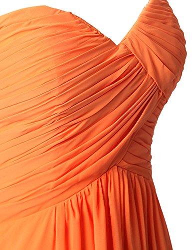Lange BrautjungfernKleid Chiffon Clearbridal Herzform Marineblau Damen Abendkleid Maxikleid CSD182 qTxvtgBwx