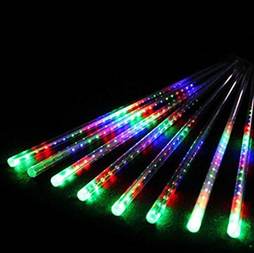 LED Xmas Tree String Light 30cm 8 Tube Meteor Shower Falling Star/Rain Drop/Icicle Snow - Star Meteor
