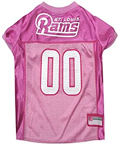 Pets First NFL St. Louis Rams Pet Jersey, Pink, Large
