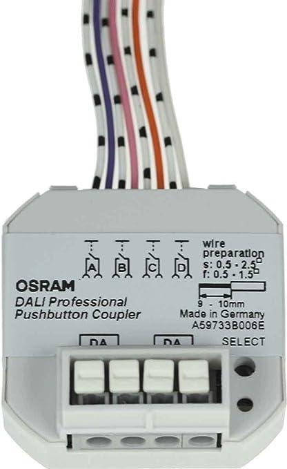 Osram Dali Prof PUSHB Coupler 4X1 Sensor de Movimiento