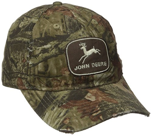 John Deere Mens All Over Mossy Oak Cap