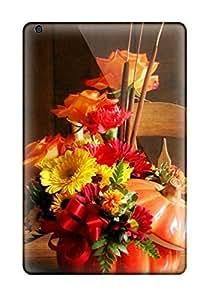 Slim Fit Tpu Protector Shock Absorbent Bumper Fall Flowers Case For Ipad Mini/mini 2