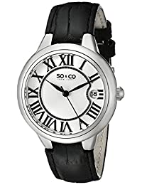 SO & CO New York Women's 5052L.1 Madison Analog Display Japanese Quartz Black Watch