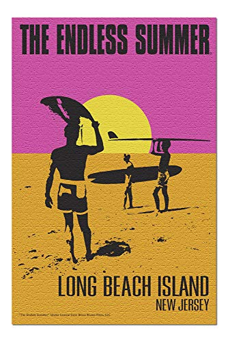 Long Beach Island, New Jersey - The Endless Summer - Original Movie Poster (20x30 Premium 1000 Piece Jigsaw Puzzle, Made in USA!) - Endless Summer Chipboard