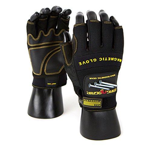 MagnoGrip 002-757 Pro Fingerless Magnetic Glove, Large, Blac